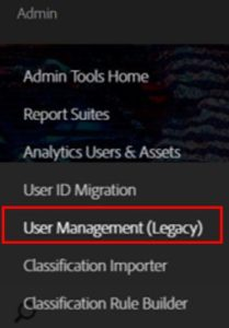 User Management legacy